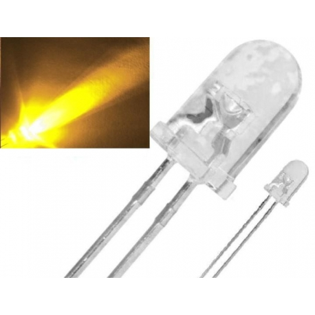 Led Megabrillo 5mm de 50.000mcd Amarillo
