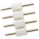 Conectores Macho recto 2.54mm Blanco