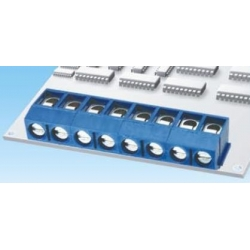Bornas circuito impreso acodado 5mm