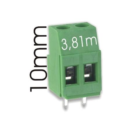 Borna 2Pin 9mmx3.81 verde