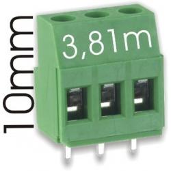 Borna 3Pin 9mmx3.81 verde