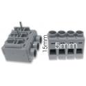 Bornas Acodadas de 5mm 2, 3, 4 Pin