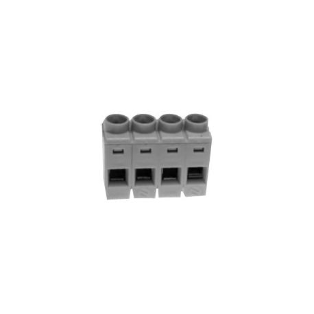Bornes circuito impreso acodada 4pin 5mm Gris
