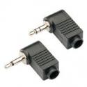 Conectores Jack 3.5mm Aereo Acodados