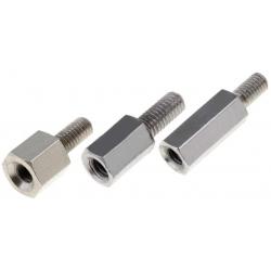 Separadores hexagonales metal M4 rosca un lado