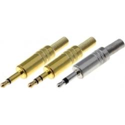 Conectores Jack Metálico Macho Aereo 3.5mm