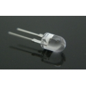 Led Water Clear Superbrillo 8mm 4 chip (1w)