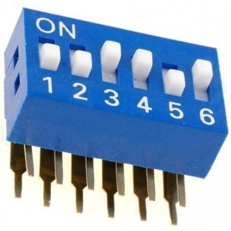 Switch Mini Dip acodado 6pin