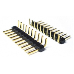 Tira de postes (Pines) de 40pin 2mm acodado