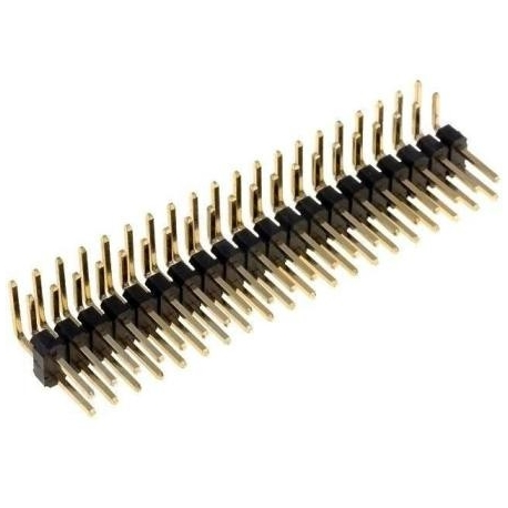 Tira doble 20 Pin macho 2mm acodado