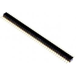Tira de pines de 1.27mm recto