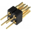Tira de Doble Pin torneado macho 2.54mm para Cable