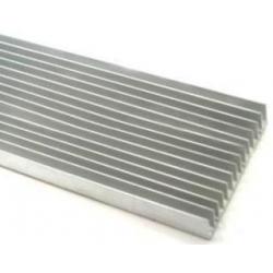 Disipador Térmico Aletas 100x25mm de 300/500 y 1Metro