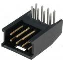 Conectores Macho AMP-MOD acodado doble paso 2.54mm