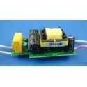 Driver Regulador GU10-E27, 220v 350mA para 7 Led