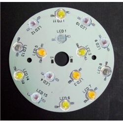 Pcb redondo 90mm para 15 Led Lumiled