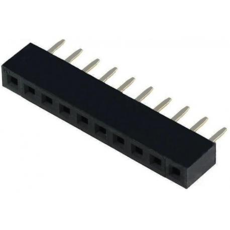 Conector recto hembra de 2mm