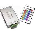 Controlador Led Receptor Mando IR 24 teclas para RGB 12-24v.dc