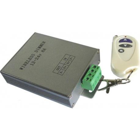 Dimmer PWM RF para Led 12-24v.8A.