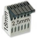 Bornas 2.50mm Sistema Clip de Presión para PCB