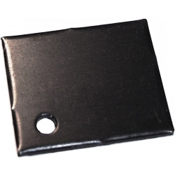 Disipador Plano 29x24x2mm Anodizado en Negro