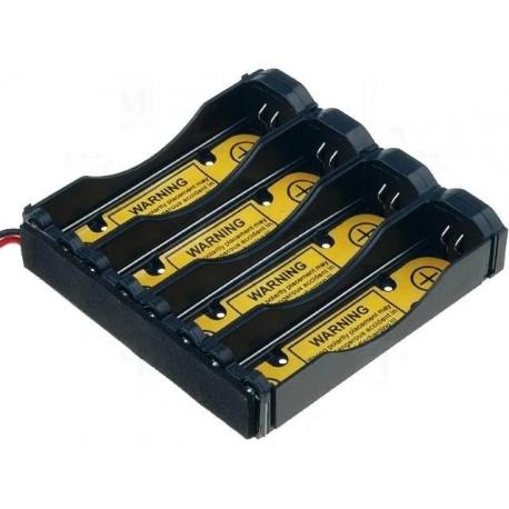 Portapilas para baterías 18650