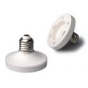 Adaptadores Lámparas Gx53-E27