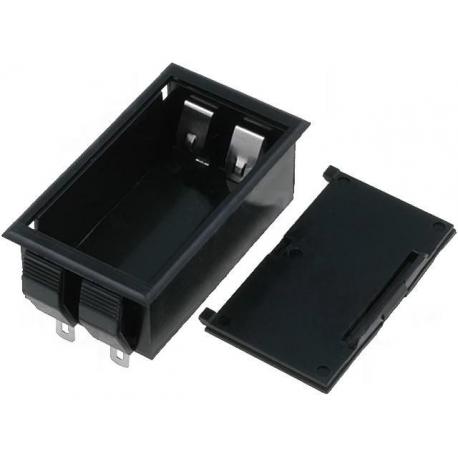 Portapilas Pilas/Baterías empotrable con tapa 1x9v