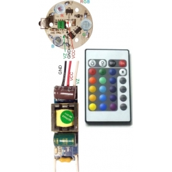 Set Driver 3 Led monocolor o RGB GU10-E27-MR16