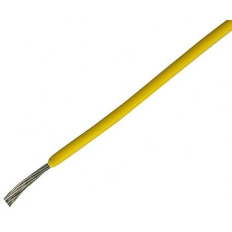 Cables de Silicona de 0.50mm 180º Amarillo