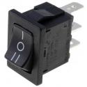 Conmutador basculante 1366D (Rocker) 3 posiciones con enclavamiento sin retorno