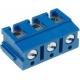 Bornas circuito impreso acodado 5 y 7.5mm Azul
