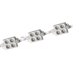 Modulo 4 led 5050 smd sumergible de 55x33x7mm