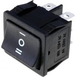 Conmutador basculante (Rocker) 2 circuitos 3 posiciones