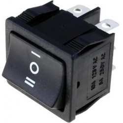 Interruptor Rocker 2 circuitos 3 posiciones con enclavamiento sin retorno