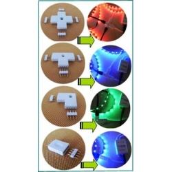Conectores 4 Pin de Tiras Led Rgb tipos L-X-T