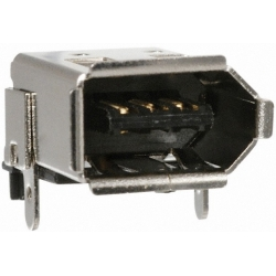 Conector IEEE1394 Hembra 6 pin smd