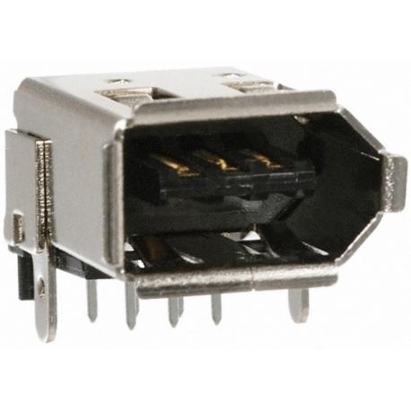 Conector IEEE1394 Hembra 6 pin pcb