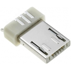 Conector Micro USB A Macho SMD 5 pin Blanco