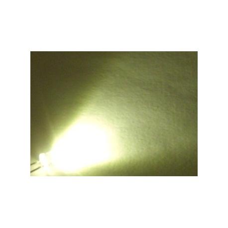 Led Superbrillo 5mm 12v con cable Blanco Cálido