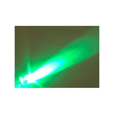 Led Superbrillo 5mm 12v con cable Verde