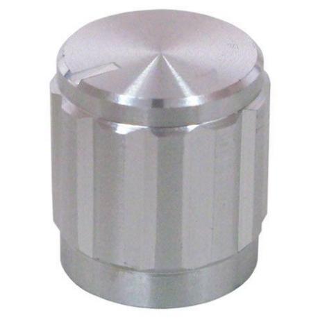 Botón de mando de Aluminio Negro grafilado