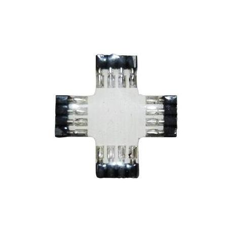 Empalmes X Tiras Led RGB 4 pin torneado