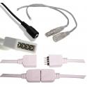 Conectores, accesorios para tiras de Led