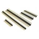 Tira de postes (Pines) paso 1.27-2-2.54-3.96-5mm Recto-Acodado