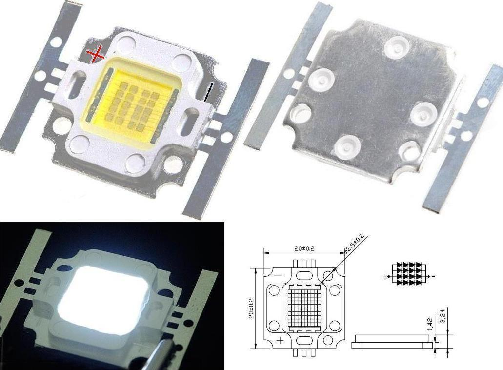 Led H.Power 20w square