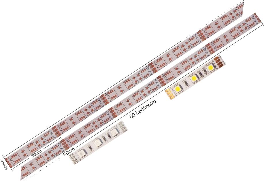 Pcb flexible 60 Led 5050