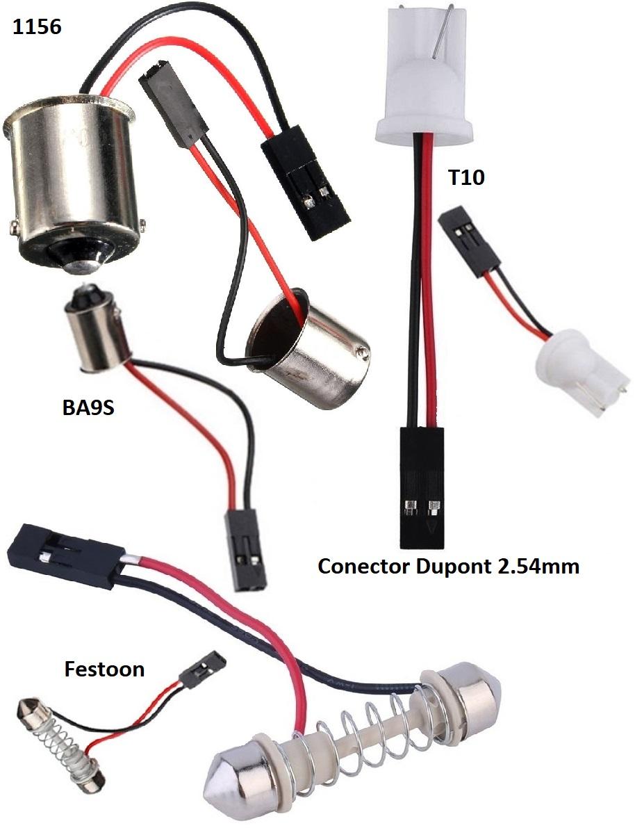 Adaptadores Bombillas BA9S, T10, Festoon, 1156