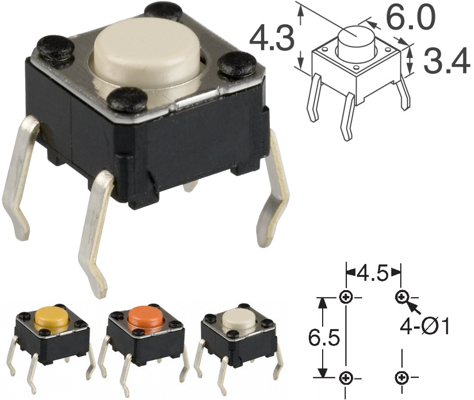 Tact Switch 6x6-4.3mm