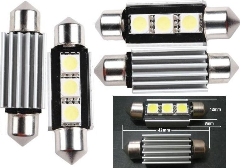 Festoon Canbus 3Led smd